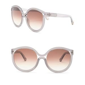 Chloe 57mm Modified Cat Eye Sunglasses